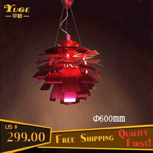 Red Artichoke Chandelier: Free Shipping 600MM PH Artichoke Chandelier Pendant Lamp