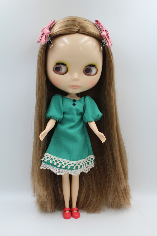 Free Shipping big discount RBL-283DIY Nude Blyth doll birthday gift for girl 4colour big eyes dolls with beautiful Hair cute toy free shipping bjd joint rbl 415j diy nude blyth doll birthday gift for girl 4 colour big eyes dolls with beautiful hair cute toy