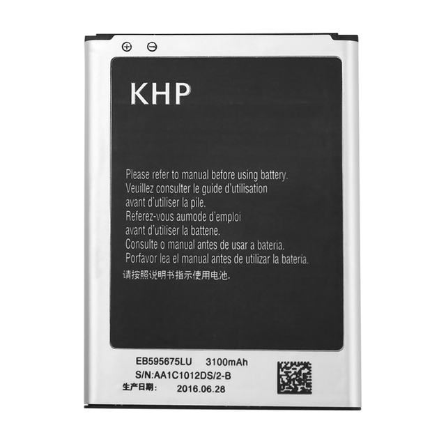KHP Original Battery For Samsung Galaxy Note 2 II N7100 N7105 Real 3100mAh Capacity Replacement Mobile Phone Batteries