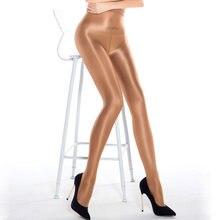 70d feminino puro sexy brilhante brilhante óleo meia-calça collants grosso boa qualidade uma linha virilha óleo meias