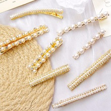 Hair Accessories Metal Pearl Hair Clips For Women Girls Hairpins Korean Hairgrip Diamond Barrette Styling Tool цена и фото