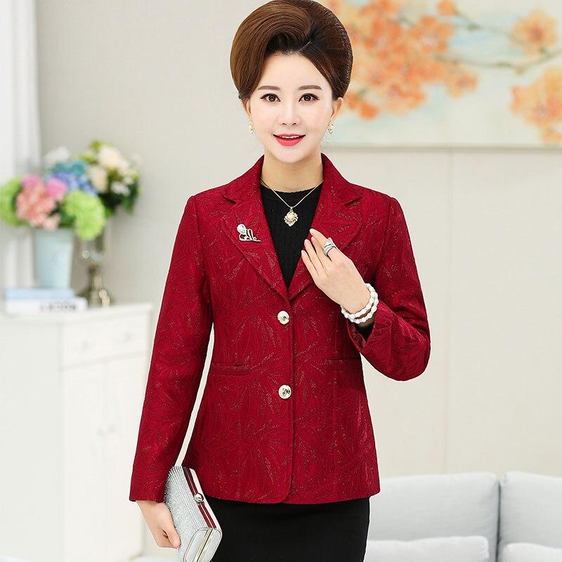 Elegant Blazer Women Fashion Casual Ol Style Office Women Blazers And Jackets Long Sleeve Spring Red Female Blazer A3560