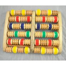 Wooden Foot Roller Massager Reflexology for Stress Fitness Health Gift