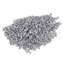 1000 x Серебристые алюминиевые зажимы овальной формы для проводов M0.5