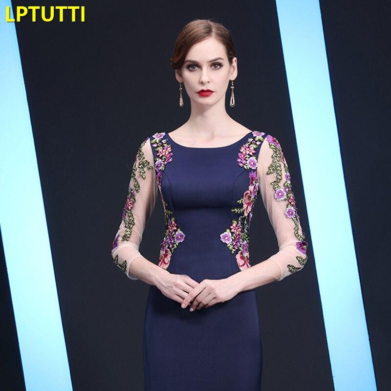 LPTUTTI broderie maman gratuite nouveau pour les femmes élégant Date cérémonie fête robe de bal formelle Gala luxe longues robes de soirée - 4