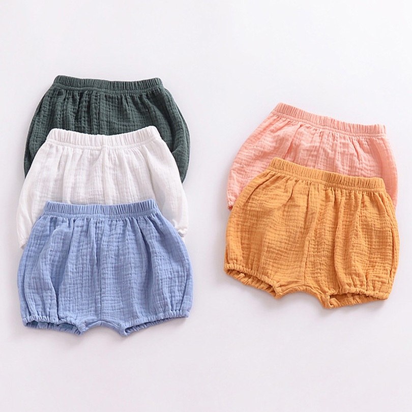 2018 Baby Girls BOYS Summer   Shorts   Linen Cotton Kids Outfits Children Clothing Newborn Comfortable Toddler PP Pants Infant 0-4Y