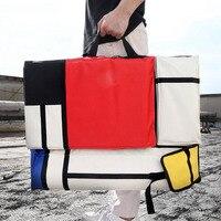 Хит цвет путешествия шить большой Емкость платы регулируемый ремень холст рюкзак водостойкий портативный рисунок сумка книги по искусству...