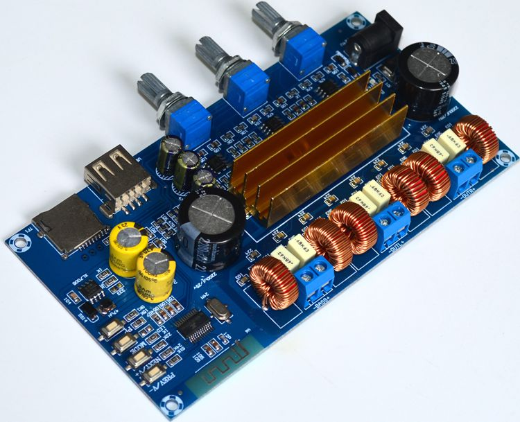 Amplifier Radient Aiyima Tpa3116d2 2.1 Bluetooth Digital Hifi Amplifier Power Assembled High-power Board Tpa3116 100w+2*50w Subwoofer Bass Board Traveling Home Audio & Video