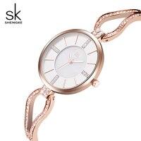 SK Luxury Skeleton Bracelet Quartz Watch For Ladies Elegant Women Waterproof Wristwatches Top Brand Fashion Relogio