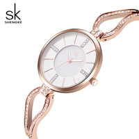 SK Luxury Skeleton Bracelet Quartz Watch For Ladies Elegant Women Waterproof Wristwatches Top Brand Fashion Relogio