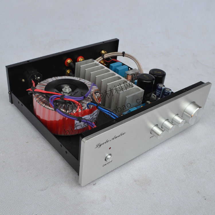 AC220V 80W*2 2.0 channel L-802 DIY fever HIFI amplifier NE5532 + TDA7293 / TDA7294 with tone amplifier цены