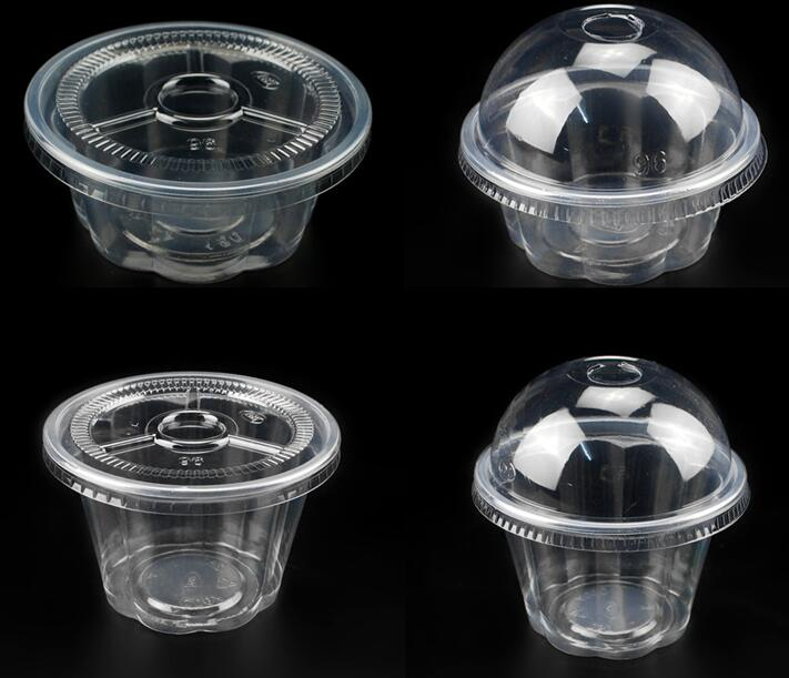 250ml Disposable Transparent Food Grade Plastic Single Cupcake