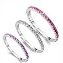 Top Selling Colorful Luxury Girl s Jewelry Pure 100 925 Sterling Silver 5A White Clear CZ