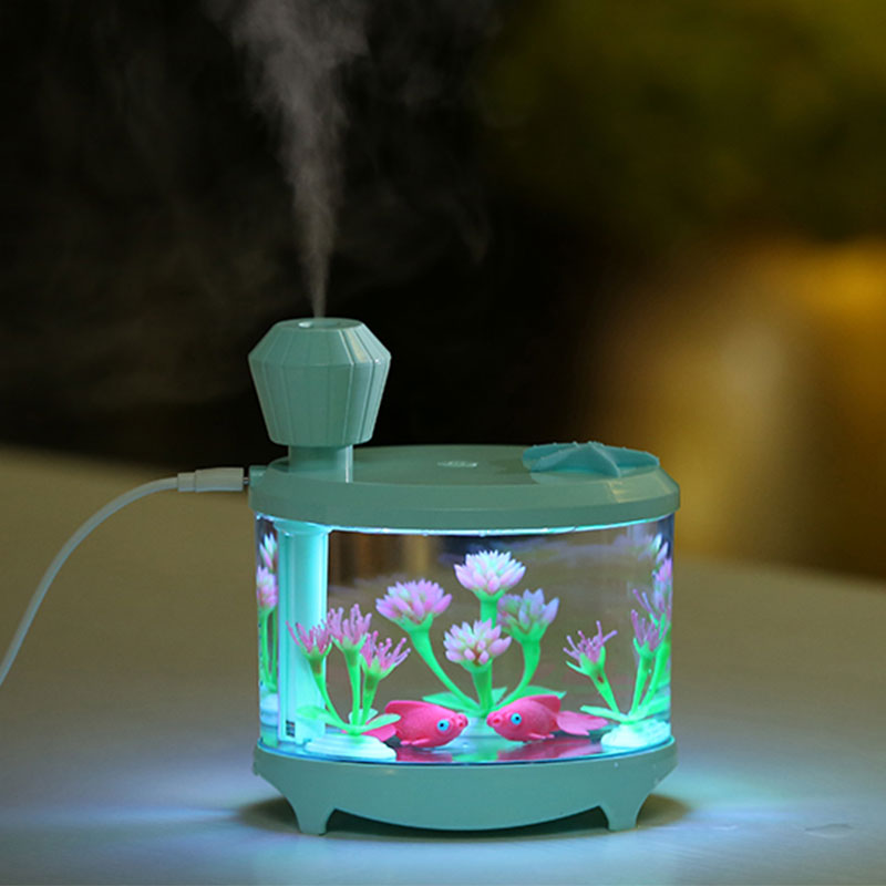 New 460ML Air Humidifier Fish Tank Plant Essential Oils Diffuser Aroma USB Light Humidificador For Aromatherapy  Home Car Office