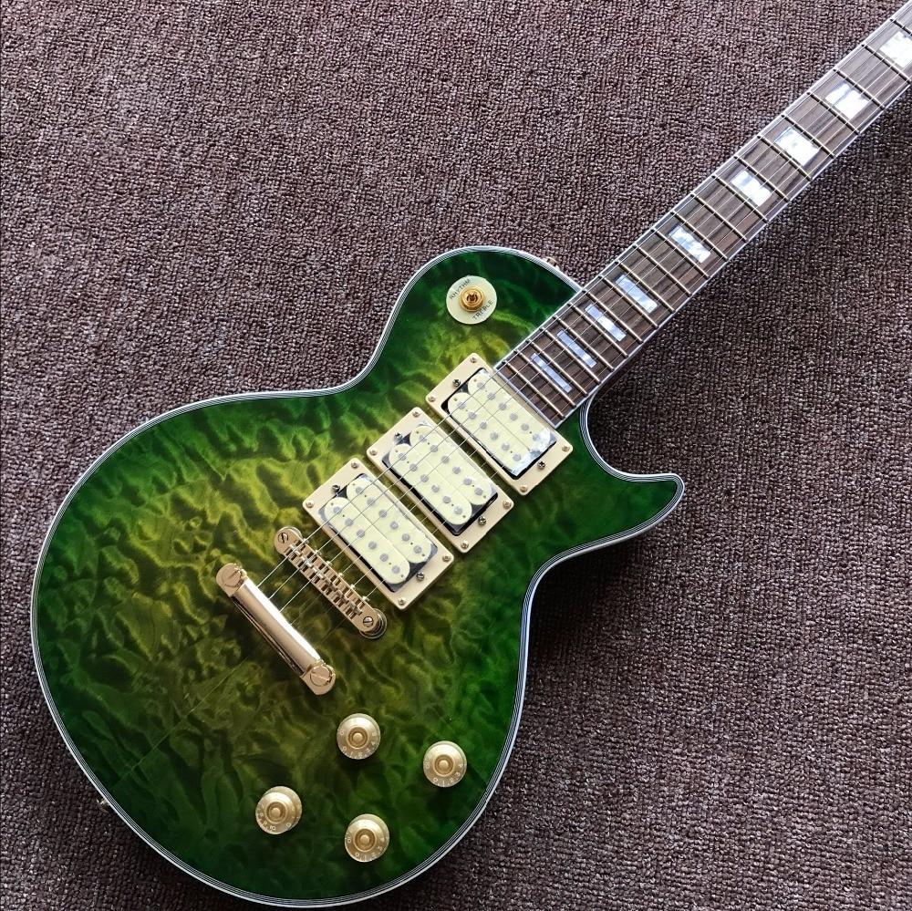 חדש מגיע אישית חנות למעלה CUSTOM ירוק LP - כלי נגינה
