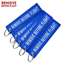 5Pcs/lot Remove Before Flight Motorcycles Key Ring Embroidery Chaveiro Keychain Fashion Luggage Tag for Women Man Aviation Gifts