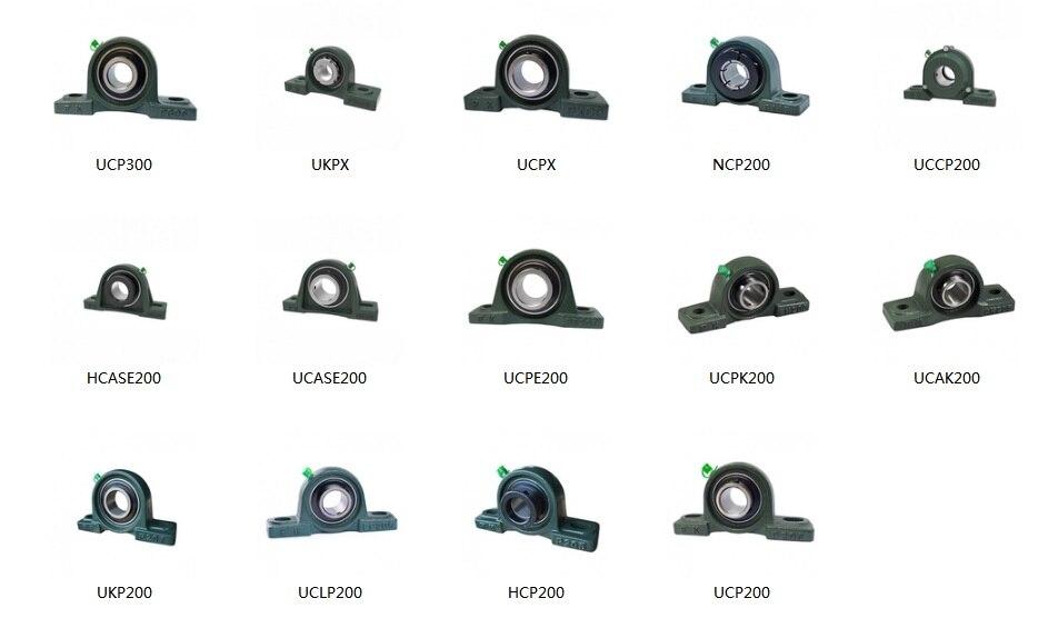 Gcr 15 UCP204(d = 20 мм) установлен и вставляет подшипники с корпусом подушки блоки