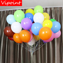 VIPOINT PARTY 100pcs 12inch colour mixture latex balloons wedding event christmas halloween festival birthday party HY-376