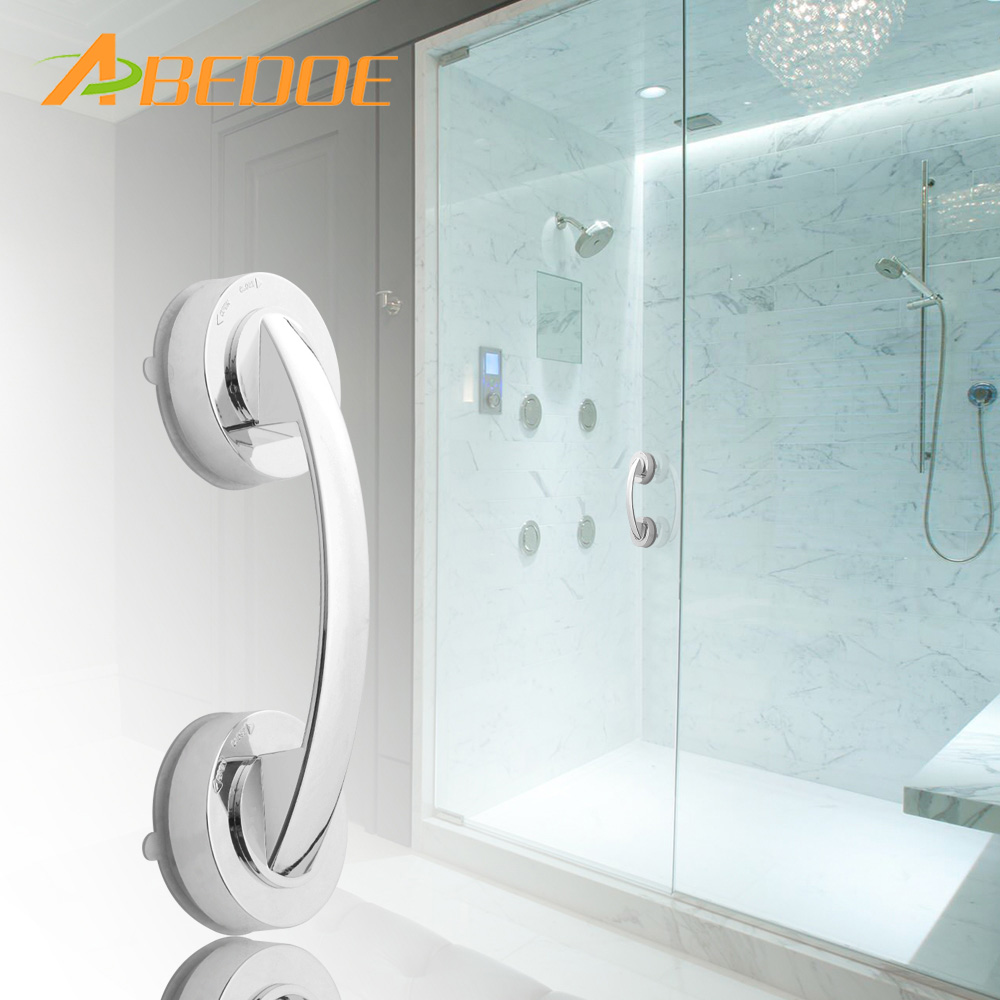 ABEDOE Safer Suction Cup Grab Bar Handle Strong Sucker Hand Grip Bathroom Shower Safety Handrails Bathroom Accessories