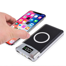 Power Bank for External Charger Bank Battery Built-in for iPhone X QI 8 18650 Wireless Portable 30000mah Powerbank Wireless
