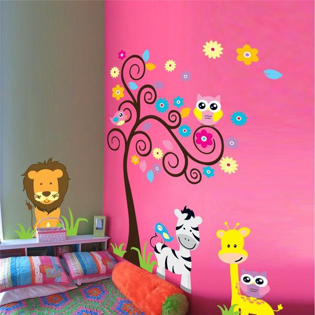 Comprar le n jirafa cebra animal pegatinas for Pegatinas pared ninos