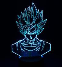 Dragon Ball Z Son Goku God Super Saiyan LED Night Light Lamp Banpresto Anime Figure Toys Lampara De luz Nocturna LEVE