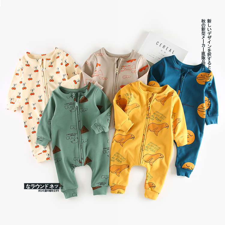 2017 New Bobo Style Autumn Winter Animal Letter Cartoon Pattern Romper for Baby Boys Girls Long Sleeve Jumpsuit Toddler Clothing autumn winter baby clothes toddler boys girls rompers one piece letter printed long sleeve jumpsuit kids baby outfits clothing