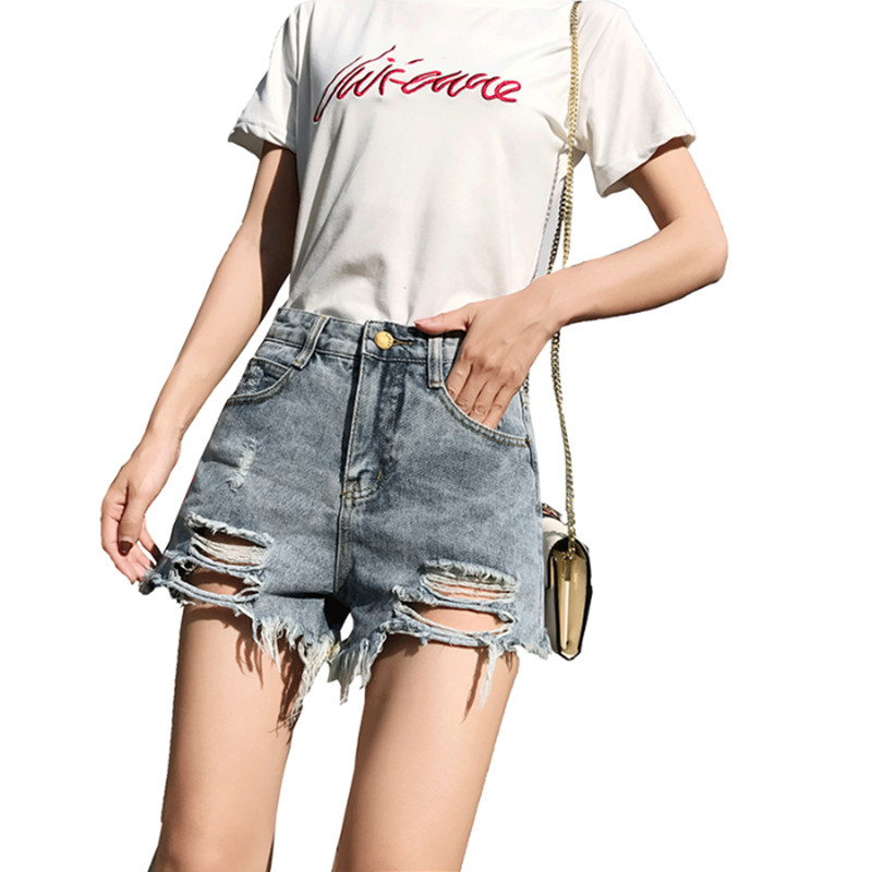 Hot Sale 2019 New Retro High Waist Wide Leg Jeans Women Spring Fashion Pockets Burr Denim Pants Casual Loose Trousers Bottoms