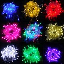 10 м 20 м Сказочный светодиодный светильник, водонепроницаемый, 220 В, гирлянда, праздничные светодиодные лампы, Рождественское украшение, внутренний, уличный светильник ing