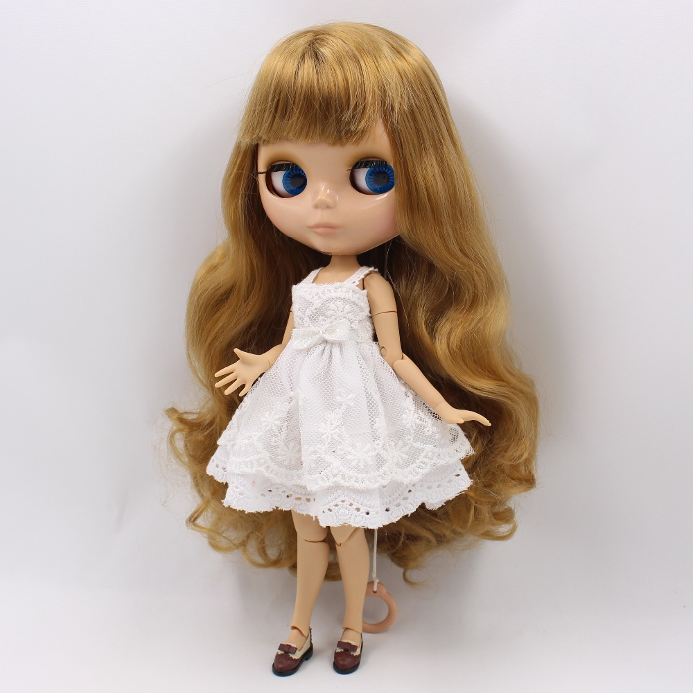 free shipping factory blyth doll brown hair with bangs fringes tan skin joint body 280BL9400 0635