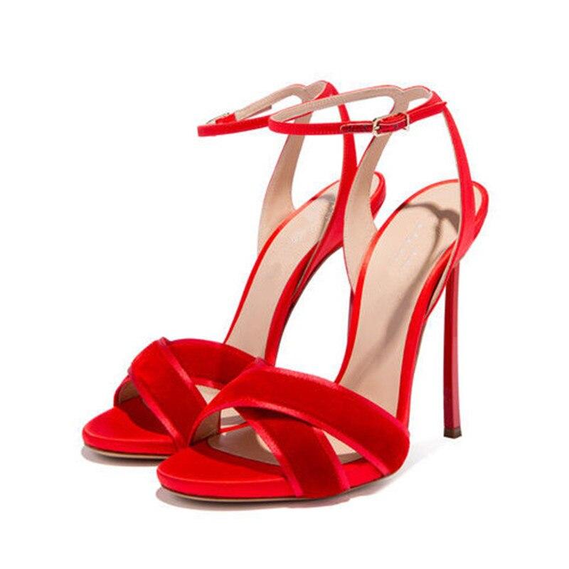 Mujeres Más black Gamuza Toe Tacón Tacones De red Moda Sandalias Mujer Sexy Verano Damas Hasp Beige Peep 2019 Zapatos nHT1wH