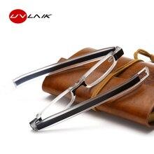 UVLAIK, брендовые маленькие оправы, очки для чтения, вращение на 360 градусов, складные очки для чтения, Мини тонкие очки для чтения, 1,0, 1,5, 2,0, 2,5