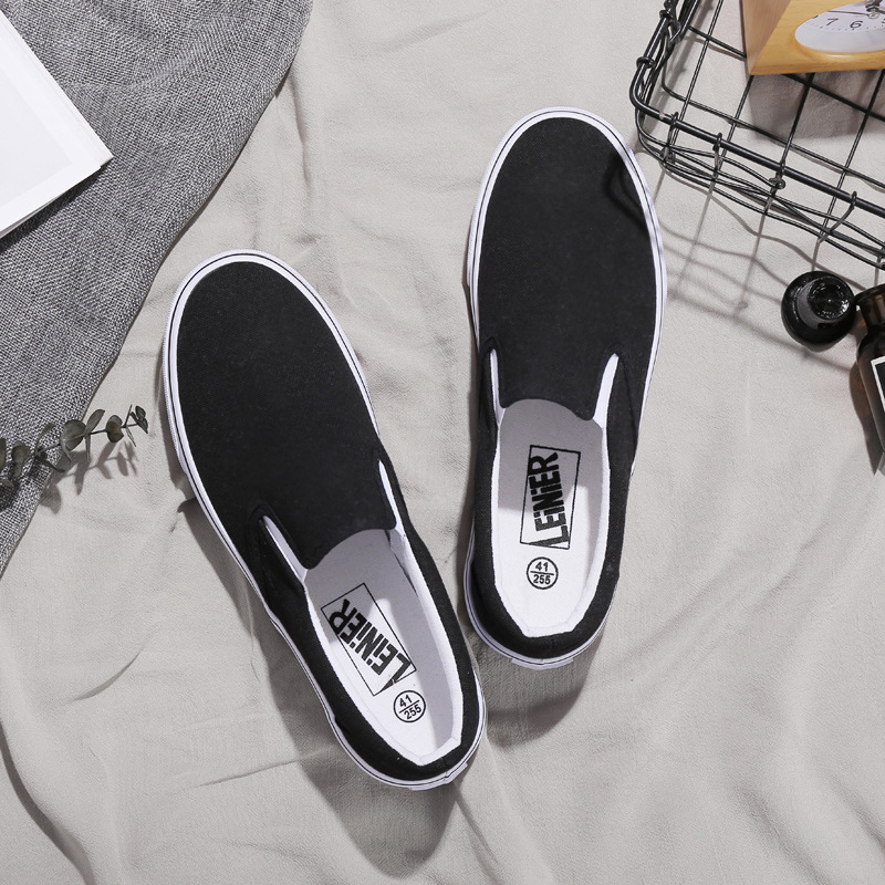 Big Plus Size Classics Black Trainers Casual Shoes Woman Vulcanize Lovers Canvas Shoes Female Sneakers Zapatos Tenis Feminino in Women 39 s Vulcanize Shoes from Shoes