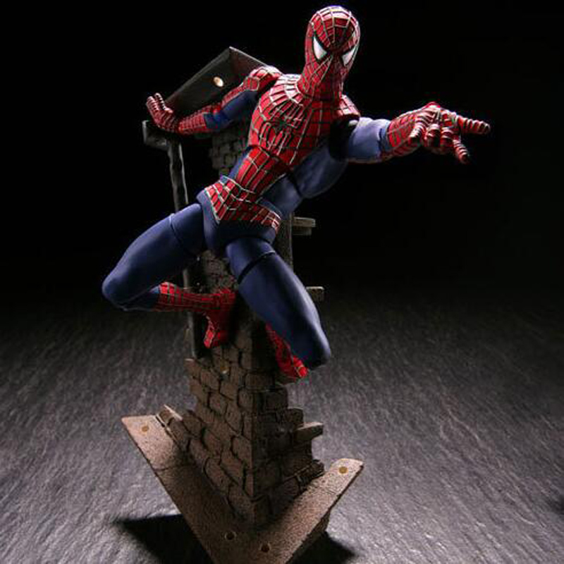 newest anime cartoon doll Spiderman Series No.039 Spider-Man Variable PVC Action Figure Collectible Model Toy T5800 10cm spider man japanese anime lovely swing doll cute black panther mobile phone holder shaking head action