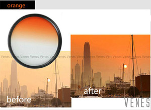 Image 2 - Venes 62mm Gradual Blue or Green or Yellow or Red or orange  Lens Filter Camera Accessory