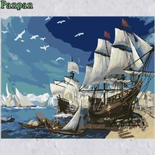 New Arrival Diy Digital painting Seascape Without frame Coloring by numbers Wall Pictures Christmas Decoration Gift Sailboat