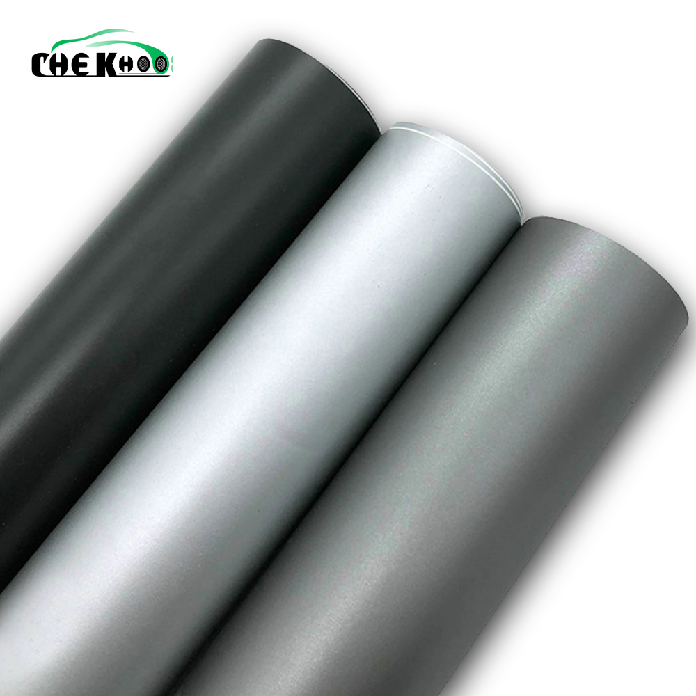 152CMX30CM Matte Silver Grey Black Vinyl Car Wrap Car Motorcycle Scooter DIY Styling Adhesive Film Sheet With Air Bubble Sticker