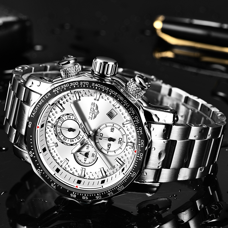 Relogio Masculino 2019 NEW LIGE Mens Watches Fashion Chronograph Watch Men Stainless Steel Waterproof Sport Watch Quartz ClockRelogio Masculino 2019 NEW LIGE Mens Watches Fashion Chronograph Watch Men Stainless Steel Waterproof Sport Watch Quartz Clock