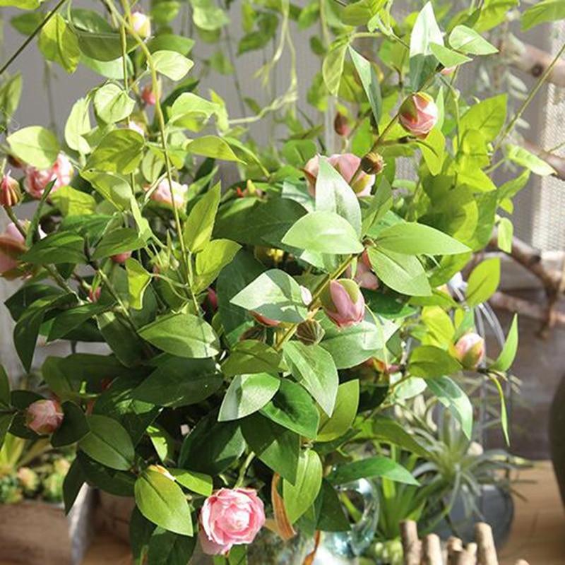 Bouquet de thé artificiel rose fleur de soie faux camélia vente chaude décoration de la maison camélia fête camélia mariage camélia