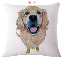 45cm*45cm Dog zoom style  linen/cotton  pillow covers