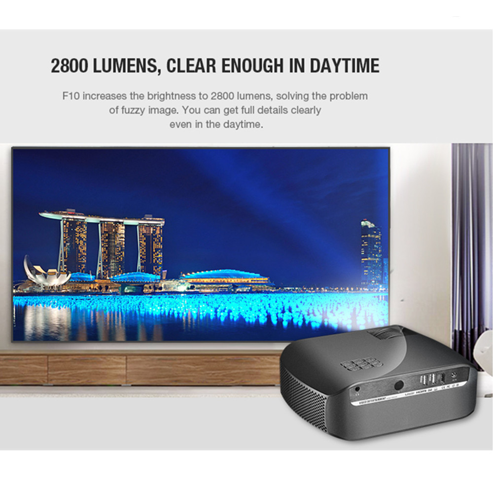 VIVIBRIGHT F10 LCD projecteur 1280x720 P 2800 lumens 300 pouces affichage divertissement à domicile vidéo projecteur 3D HD vidéo projecteur - 3