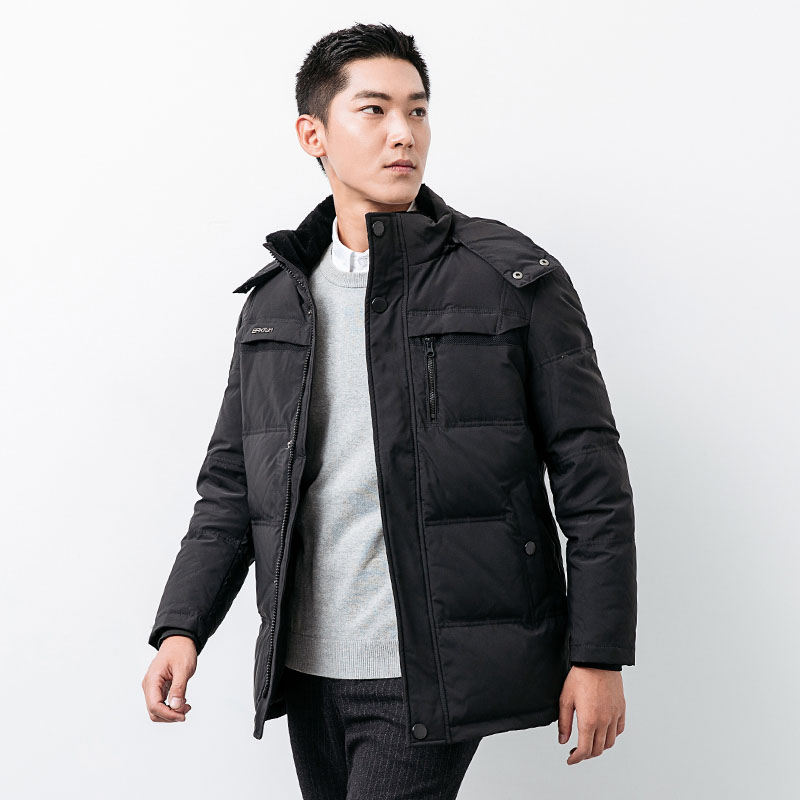 Loose fit   down     coat   outerwear men hooded thickening warm winter   down   jacket plus size M - 5XL 2019 autumn winter