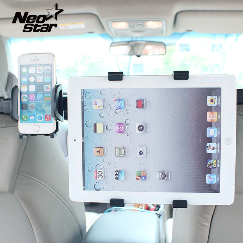 Universal 2 IN 1 Car Headrest Phone Tablet Stand Mount For Ipad Air mini For Samsung tab3 for Iphone Suction Brackets universal car windshield suction tablet mobile phone mount holder stand 6 5 14cm width adjustable for ipad iphone samsung tab