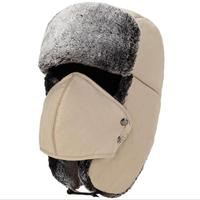 Balaclava Earflap Bomber Hats Caps Scarf Men Women Russian Trapper Hat Aviator Trooper Earflap Snow Ski Hat Cap With Scarve