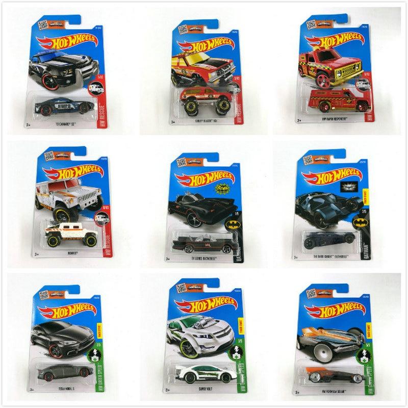 Hot Wheels 1:64 Sport Car 2016 Set Metal Material Body Race Car TESLA MODEL S BATMAN  Gift For Kid NO211-249