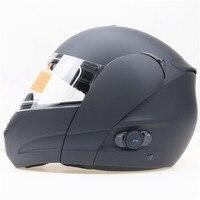 BLINC bluetooth Kask Motocyklowy ECE DOT Zatwierdzony przerzucić się podwójne obiektyw motocykl kask Rozmiar pasuje do 56-64 cm głowy