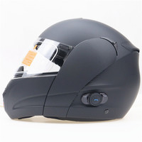 BLINC Bluetooth Motorcycle Helmet DOT ECE Approved Flip Up Double Lens Motorbike Helmet Size Fits 56