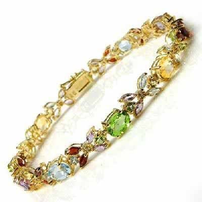 Superb Jewelry Natural Charming Chinese 14K GOLD Color jade bracelet shipping free