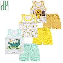 купить Toddler Boy Summer Clothes Cartoon Kids Children Clothes Sleeveless Vest Pants Baby Girl Boys Outfits Tracksuit 1 3 4 Years недорого