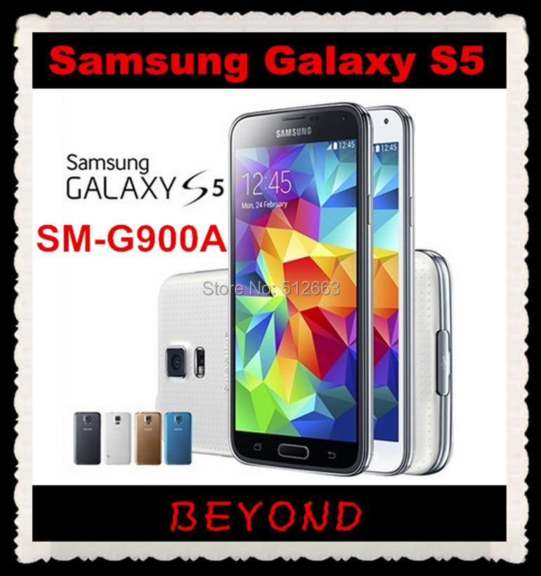 """bilder für Samsung Galaxy S5 Ursprünglicher Freigesetzter 3G & 4G GSM Android Handy SM-G900A Quad-core 5,1 """"16MP WIFI GPS 16 GB Dropshipping"""